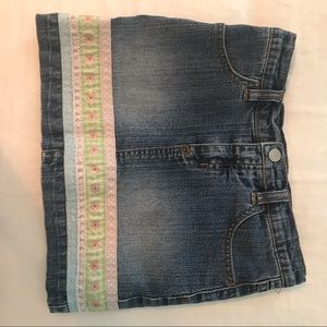 Lilly Pulitzer Girl's denim skirt